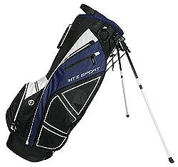 Hot-Z Golf Sport Stand Bag, Black/Navy/White