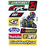 Sponsors STICKER Tuning Racing Motocross Autocollant feuille 27 x 18 cm