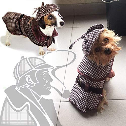 Coppthinktu Sherlock Holmes Hundekostüm - berühmte Detektiv-Hunde-Kostüm, Small, - Sherlock Holmes Detektiv Kostüm