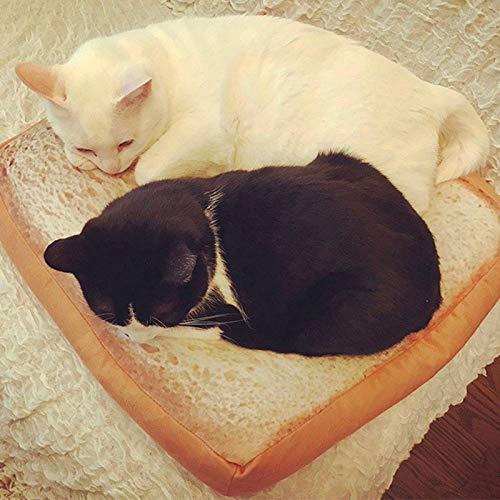 hahuha Toy Haustier Katze kleine Hund Toast Kissen Sofa Nach Hause weiche warme Matte Sleeper Pad waschbare Haustier