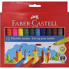 554312 Faber-Castell-Pennarelli con punta in feltro, multicolore,)