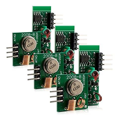 3x kwmobile module radio émetteur récepteur 433 MHz pour Arduino et Raspberry Pi - Wireless Transmitter Module