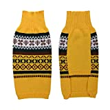 LucyGod Christmas Dog Jumpers Sweaters Outfits Costumes Hoodies Winter Xmas Pet Clothes Shirts Coats Jackets (L, Yellow)