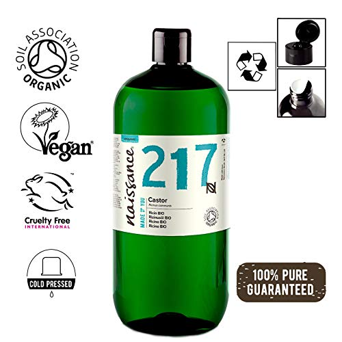 Naissance Aceite de Ricino BIO 1 Litro - Puro, natural, certificado ec