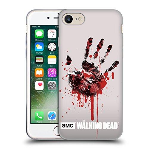 Officiel AMC The Walking Dead Main Silhouettes Étui Coque en Gel molle pour Apple iPhone 7, Coques iphone