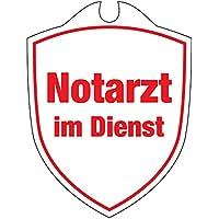 KLK Notarzt im Dienst Autoschild, Weiß, One Size preisvergleich bei billige-tabletten.eu