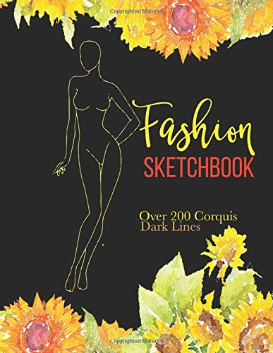 Fashion Sketchbook: Over 200 Fashion Croquis Templates To Bring Your Designs to Life Quickly: Volume 2 (Fashion Corquis Template)