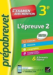 """Afficher """"L'épreuve 2, 3e"""""""