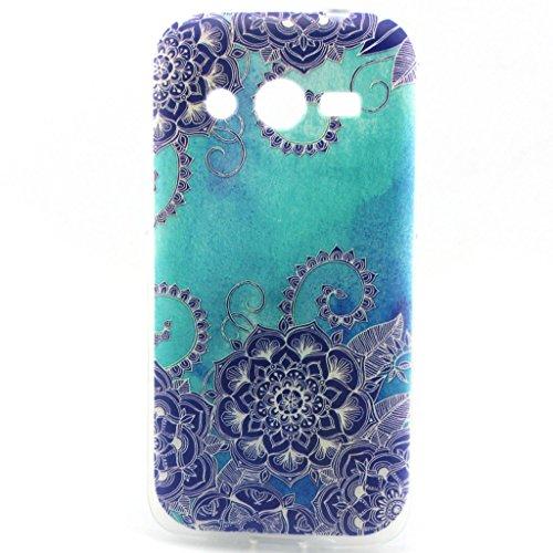 Fenrad® Schöne Muster Design TPU Case Tasche Hülle Etui Schutzhülle Schutz Handytasche Hüllen Cover für Samsung Galaxy Core 4G LTE SM-G386F - Stil 15