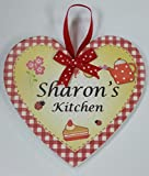 SHARON Named personalised Heart Shaped Kitchen Magnetic Plaque By Sterling Effectz