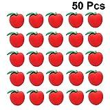 STOBOK Gomma da matita per studenti 50pcs gomma da cancellare carina mela rossa 3D gomme creative attraenti gomme per bambini per i premi degli insegnanti di scuola