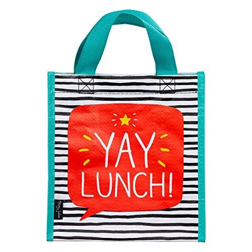 """Komplett Gefütterte Umhängetasche (Happy Jackson praktische Tasche mit Aufschrift """"Yay Lunch"""", Vespertasche, Mittagessen-Tasche, mehrfarbig)"""