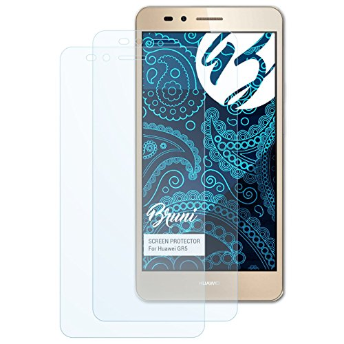 Bruni Schutzfolie für Huawei GR5 Folie, glasklare Bildschirmschutzfolie (2X)