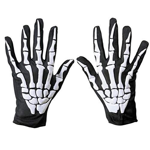 Kostüm Klaue Dunkle - CADANIA 1 para Radfahren Fahrrad Motorrad Halloween Schädel Klaue Knochen Skeleton Handschuhe Goth Racing Vollfinger Touchscreen Handschuh Für Männer Frauen