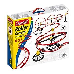 Quercetti Roller Coaster Negro, Rojo, Color blanco, Amarillo juguete de habilidad motora - juguetes de habilidades motoras (Negro, Rojo, Color blanco, Amarillo, Niño, Niño/niña, 72 mes(es), 12 año(s), Caja)