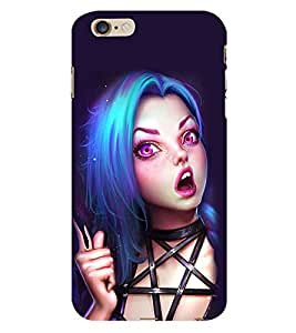 99Sublimation Alien Girl 3D Hard Polycarbonate Back Case Cover for Apple iPhone 6 Plus