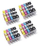 20 Druckerpatronen mit Chip kompatibel zu Canon PGI-570 CLI-571 für Canon Pixma MG5750 MG5751 MG5752 MG5753 MG6850 MG6851 MG6852 MG6853 TS5050 TS5051 TS5053 TS5055 TS6050 TS6051 TS6052 MG7750 MG7751