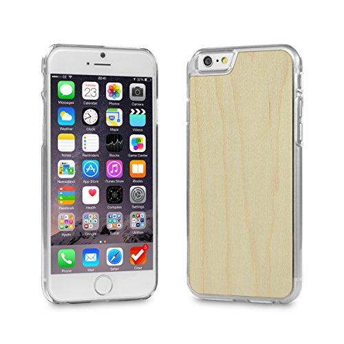 Cover-Up #WoodBack Hülle aus echtem Holz in klar für iPhone 6 / 6s - Ahorn Iphone Mobile-skin