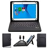 NAUC Wireless Bluetooth Tastatur Tasche für CSL Panther Tab 10 Tablet Keyboard Hülle