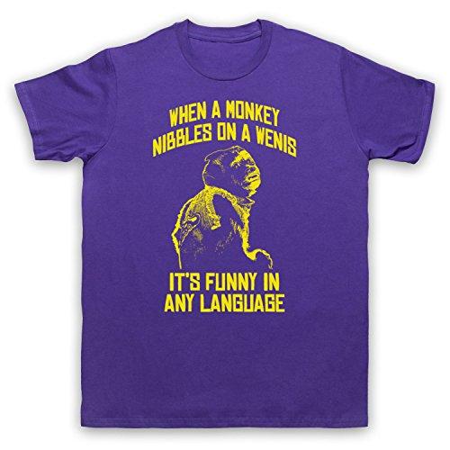 Inspiriert durch Hangover 2 Monkey Nibbles A Wenis Unofficial Herren T-Shirt Violett