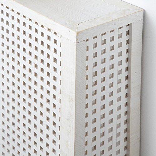 Nordic Heizkörperverkleidung 68Cm – Holz – 68x18x78 cm – Farbe Weiß Snow - 3
