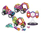 Supremery Magnetische Bauklötze Bausteine Konstruktions-Spielzeug Set | Lassen Sie Ihr Kind durch Farben und Formen lernen | Kreatives und pädagogisches Geschenk für Kinder über 3 Jahre (88 Teile- Nr.2 mit Kiste)