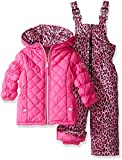 Pink Platinum Baby Girls Infant Quilted Snowsuit with Cheetah Print