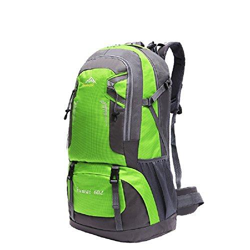 Zaini da escursionismo, Traspirante Spalla Zaino Viaggio Trekking Alpinismo Zaino Unisex Zainetto All'Aperto green 4