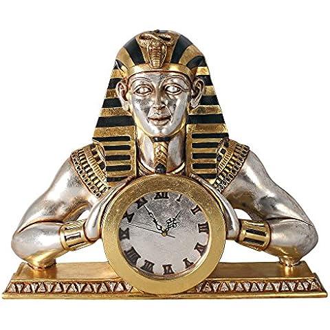 Progettazione Toscano NE25362 tempio di Heliopolis egiziano Mantello Statua Orologio