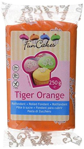 FunCakes Rolfondant -Tiger orange, 1er Pack (1 x 250 g)