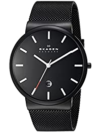 Skagen End-of-Season Analog Black Dial Men's Watch - SKW6053