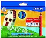 Lyra Groove Triple1 pastello 3in1 - astuccio 12 colori