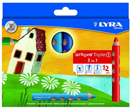 LYRA Groove Triple I Kartonetui mit 12 Farbstiften, Sortiert