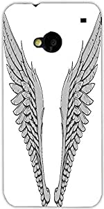Snoogg Wings Vector Element Designer Protective Back Case Cover For Htc One M7