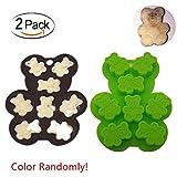 Keepingcoox 2pezzi Teddy Bear hard Candy silicone Mold | fondente e colla mini stampo da forno per decorazione torte, senza BPA