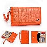 Kroo Croc universal para smartphone Wristlet Funda tipo cartera para OPPO Find 5/R1r829t Mobile naranja naranja