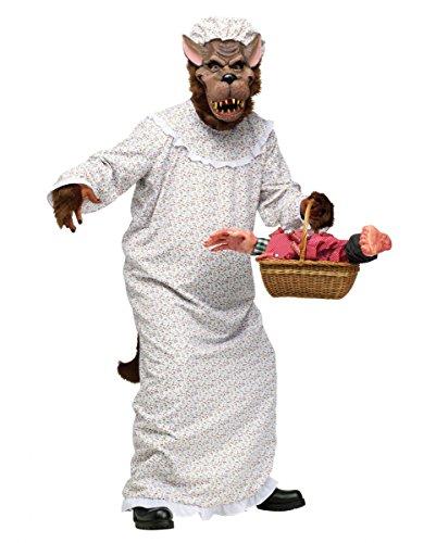 Böser Wolf im Oma Kostüm (Böse Kostüme)