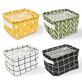 Erlliyeu 4 Pack of Folding Aufbewahrungsbox Faltbox, Small Baby Linen Storage Organizer Sets Plastic Storage Box Organizer 20.5x17x15 cm (A)