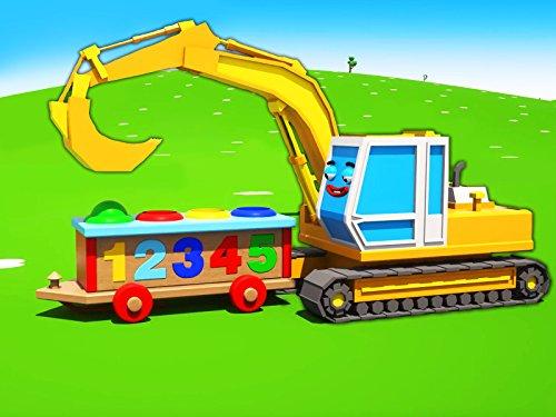 Farben lernen mit Gelber Bagger - Bälle Spielplatz