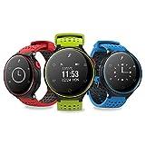 HSW HR Fitness Activity Tracker Herzfrequenz Monitor, Smart Fitness Armband Sport Schrittzähler Armband mit Schritt/Kalorienzähler/Sleep Tracker Call Benachrichtigung Push für iPhone IOS und Android Handy, Hsw-x2, X2-Blue