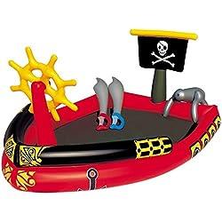 Barco pirata hinchable.