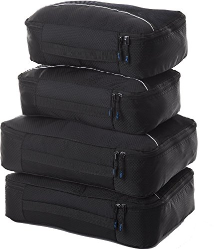 Bago Packing Cubes - 4-teiliges Packwürfel Set für Reisen - Plus 6 Koffer Organizer Zip Beutel Test