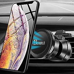 Support Telephone Voiture, Aimant Téléphone Voiture Magnétique Accroche Universel Support Smartphone Voiture Portable Ventilation à Grille d'aération Porte Support GPS avec Rotation 360° pour Iphone