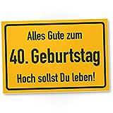 DankeDir! 40. Geburtstag Stadtschild - Kunststoff Schild, Geschenk 40. Geburtstag, Geschenkidee Geburtstagsgeschenk Vierzigsten, Geburtstagsdeko/Partydeko / Party Zubehör/Geburtstagskarte
