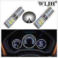 WLJH 20pcs Canbus Error Free T5 White LED Angel Eyes Halo Ring Marker Bulb /& Instrument Panel Light Bulbs