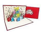 Überraschende Geburtstags-Karte für Glückwunsch & Jubiläum, hochwertige 3D Pop-Up Karte zur Gratulation bei Geburtstagen, tolle Karte für Geburtstags-Glückwünsche
