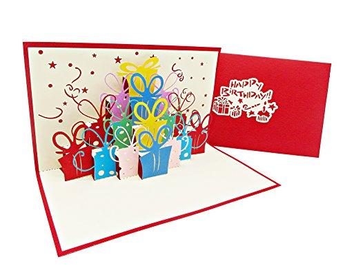 Überraschende Geburtstags-Karte für Glückwunsch & Jubiläum, hochwertige 3D Pop-Up Karte zur Gratulation bei Geburtstagen, tolle Karte für Geburtstags-Glückwünsche (Geburtstag Karten)