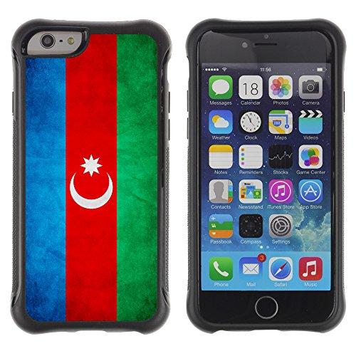 Graphic4You Vintage Uralt Flagge Von Kurdistan Kurdisch Design Shockproof Anti-Rutsch Weichen Hülle Case Tasche Schutzhülle für Apple iPhone 6 Plus / 6S Plus Drapeau Azerbaïdjanais Azerbaïdjan Republic