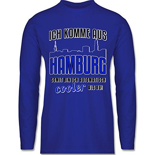 Shirtracer Städte - Ich Komme Aus Hamburg - Herren Langarmshirt Royalblau