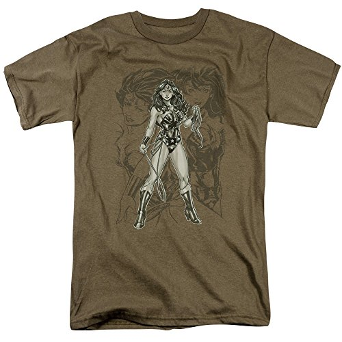 Trevco Men's JLA Justice League Wonderwoman Sketch Adult T-Shirt